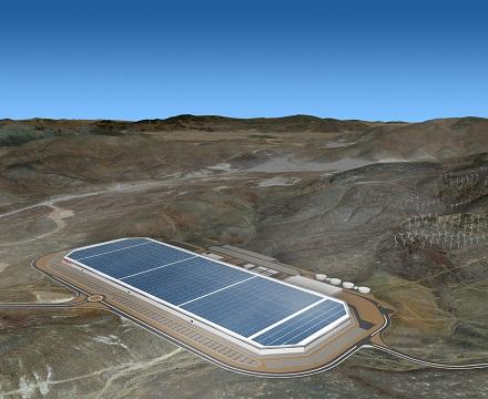 installation technology for electrical car gigafactory (Nevada)